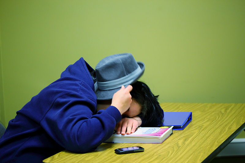 Kids today cannot stay awake during class.