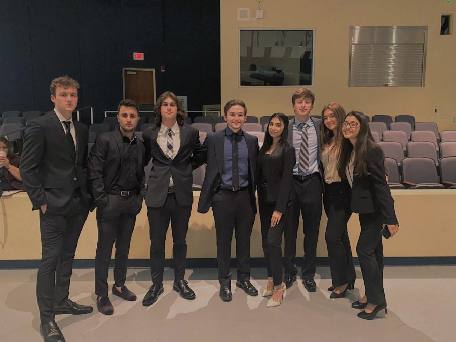 The FBLA members at West Boca Raton Community High School.