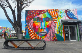 This picture features one of the many murals at Wynwood Walls. This is definitely a great place to spend a day of your Spring Break!