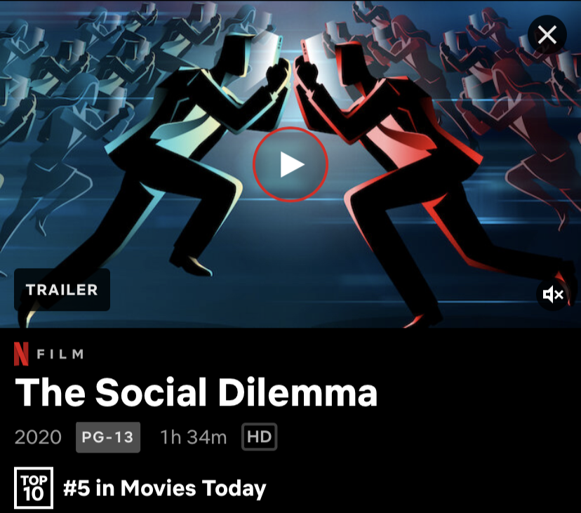 In the span on 1 hour and 30 minutes, The Social Dilemma helps provoke its audience to be proactive against the negative influences of social media.