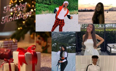 Paola Orellana, Antonio Alcima, Ashley Zukerman, Allen Uszinay and Aliyah Raza are wishing you a happy holiday season!