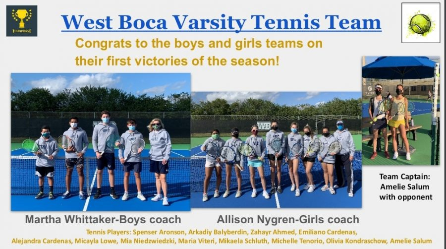 West Boca's Tennis Players Cause a Racket