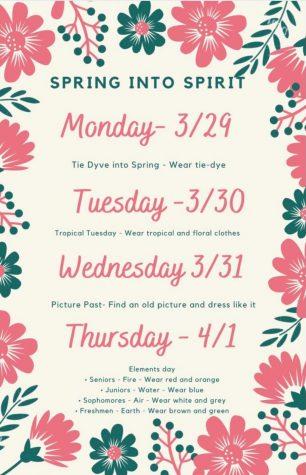 SPIRIT WEEK 3/29-4/1