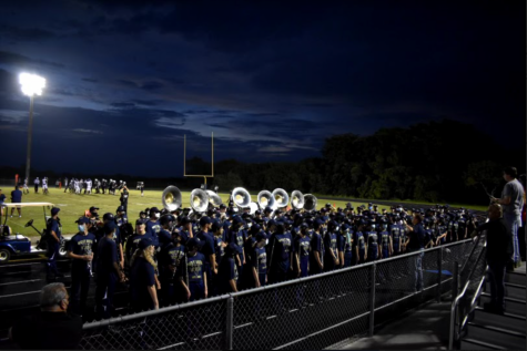 The Vanguard Performing at a West Boca football game during halftime.