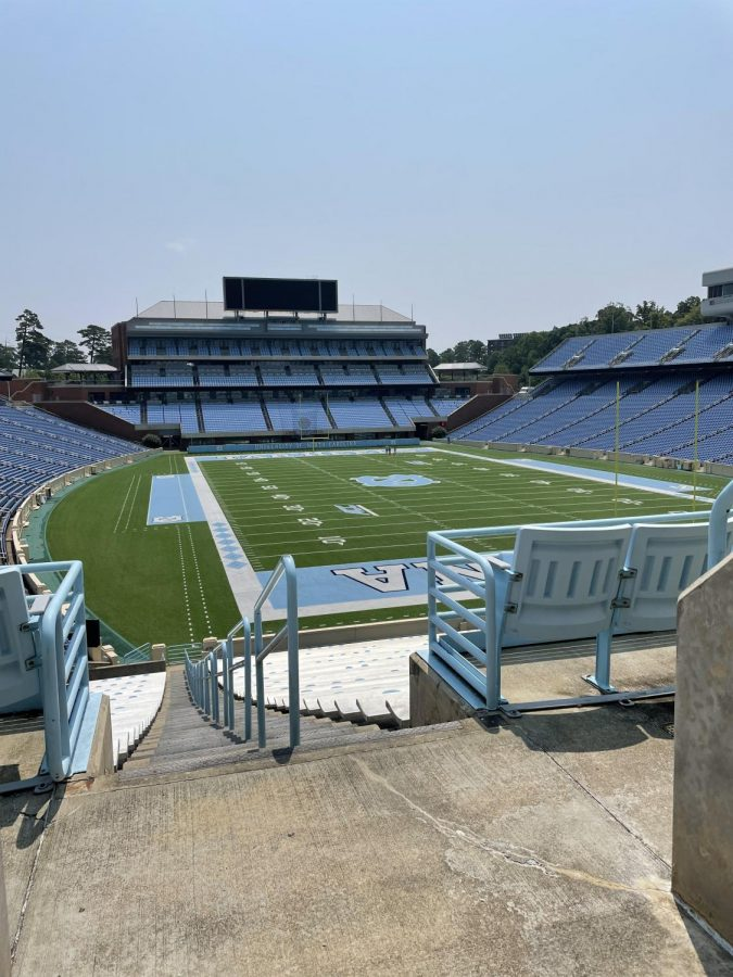University of North Carolinas Football Stadium. UNC is a school of interest for many, including myself, because of its journalism program.