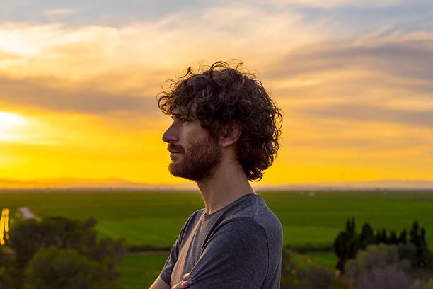 Portrait profile man